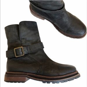 H By HUDSON Tatham Leather Sherpa Lined Boots